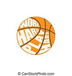 Orange basketball symbol