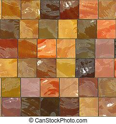 orange bathroom tiles pattern