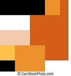 Orange bear on white background