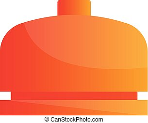 Orange bell simple vector illustration on a white background