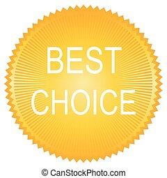 Orange best choice button