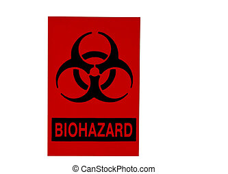 biohazard sign isolated on white - orange biohazard sign...