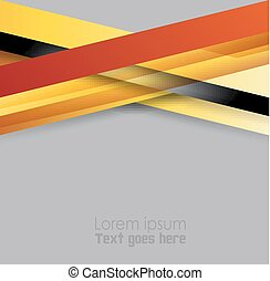 Orange, black abstract background