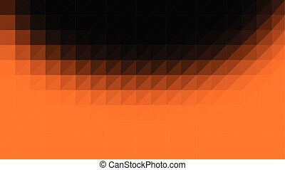 Orange Black Low Poly Vector Background