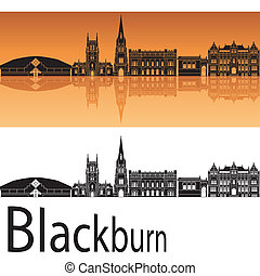 orange, blackburn, skyline, hintergrund