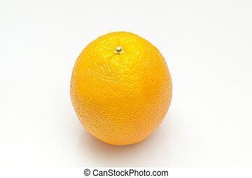orange, blanc, isolé, fond