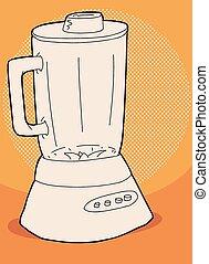 Orange Blender Illustration