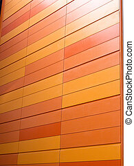 Orange block wall