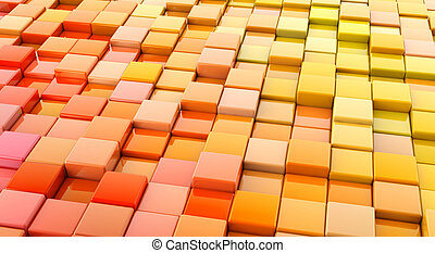 orange blocks abstract background