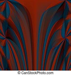 Orange blue abstract fractal