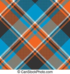 Orange blue fabric texture seamless pattern