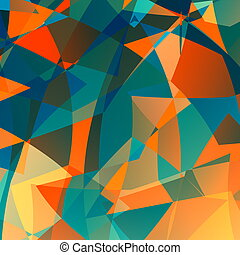Orange blue poly background.