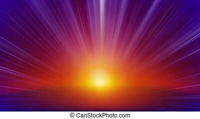orange blue rays of light loop back - orange blue rays of...