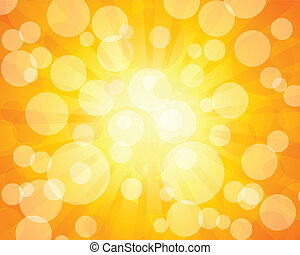 Orange bokeh - Abstract background with bokeh effect. Vector...