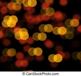 Orange bokeh blur abstract background