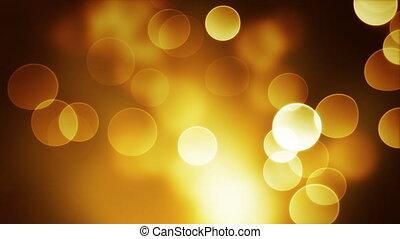 orange bokeh lights loop background