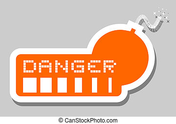 Orange bomb danger