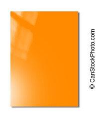 Orange Booklet cover template - Orange booklet cover ...