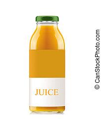 Orange bottle juice isolated