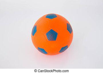 orange, boule caoutchouc