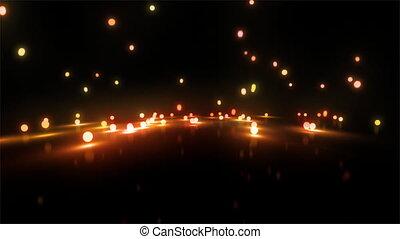 orange Bouncing light balls wide