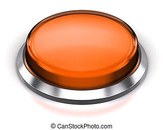 orange, bouton, rond