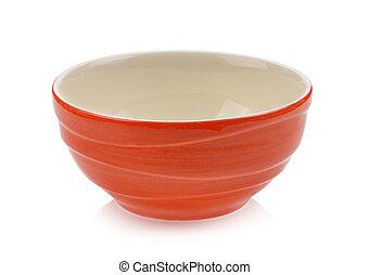 orange bowl on white background