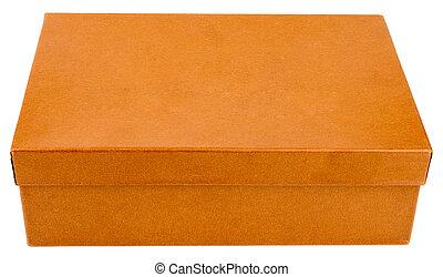 Orange box isolated on white