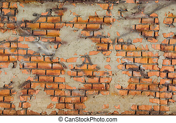 Orange brick wall design