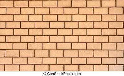 Orange bricks wall texture background