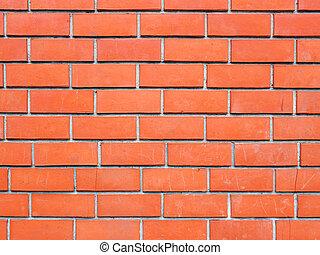orange, briques, fond