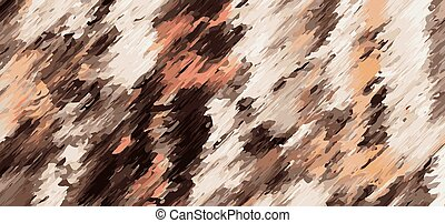 orange brown and black painting