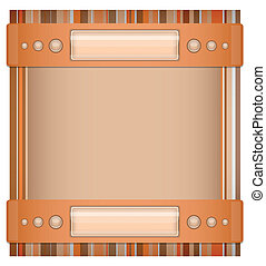 Orange- brown background with layot