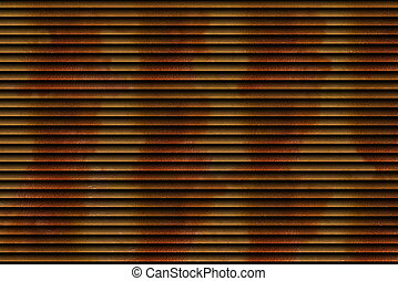 Orange brown background with with blinds pattern