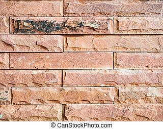 Orange brown brick wall background