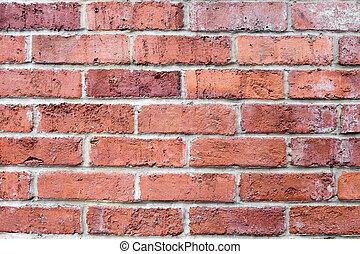 orange brown brick wall horizontal. Background for design.