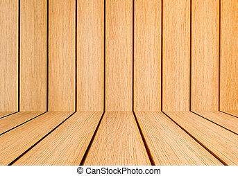 Orange brown interior planks