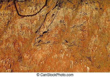 orange, brun, texture, fond, sol