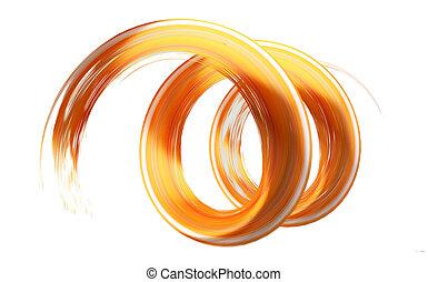 orange brush stroke