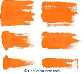 orange brush strokes 1