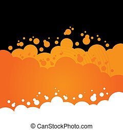 Orange Bubbly Background Design