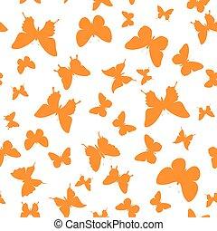 orange butterfly background