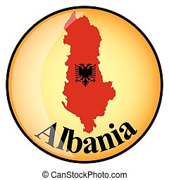 orange button with the image maps of Albania