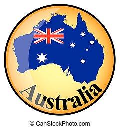 orange button with the image maps of Australia