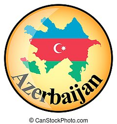 orange button with the image maps of Azerbaijan