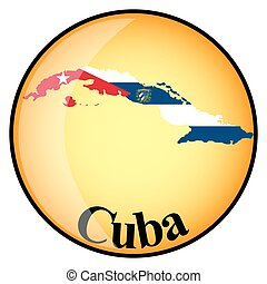 orange button with the image maps of Cuba
