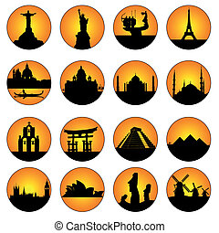 orange buttons famous places in the world