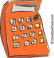 Orange calculator vector illustration