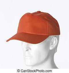Orange cap isolated on a white background