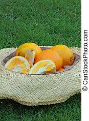 Orange cap weave
